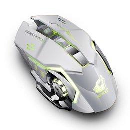 $enCountryForm.capitalKeyWord Australia - Ergonomic Colorful LED Light Wireless Rechargeable Mouse 1800dpi 2.4GHz USB 10m Four-way wheel Adjustable DPI