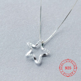 $enCountryForm.capitalKeyWord Australia - China Luxury 925 Sterling Silver Zircon Crystal Star Necklaces Pendant Hot Sale Pure Silver Jewelry for Women Jewelry Gift Not Include Chain