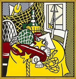 Life Size Art Australia - Roy Lichtenstein Still Life With Lobster High Quality HandPainted &HD Print Wall Art Oil Painting On Canvas Home Decor Multi sizes R13