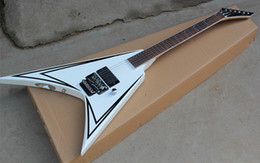 $enCountryForm.capitalKeyWord Australia - Classical Flying Electric Guitar,Floyd Rose Pickup,White Body and Special Fret Inlay,Single H Pickups,can be Customized.