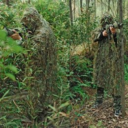 Discount tactical paintball equipment - Equipment Tactical Ghillie Suit Dry Grass Desert Woodland Camouflage CS Stealth Sniper Hunting Paintball Suit