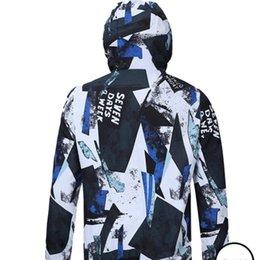 Long Windbreaker Jackets Australia - 19ss Spring New Windbreaker Jackets Men 3D Printed Ultra Weight Thin Waterproof Hooded Jacket