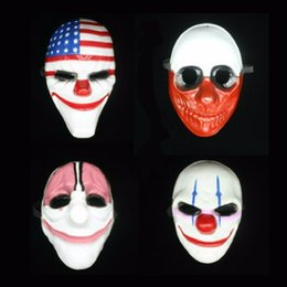 Dallas Mask UK - Payday 2 mask joker Payday2 Party Masks Heist Dallas Wolf Chains Hoxton Party Cosplay Halloween Horror Masquerade Mask