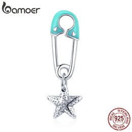 $enCountryForm.capitalKeyWord Australia - wholesale Authentic 925 Sterling Silver Blooming Star Paperclip Pendant Charms Fit Charm Bracelets Necklaces DIY Jewelry SCC1000