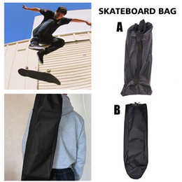 $enCountryForm.capitalKeyWord NZ - Adjustable Black Longboard Backpack Skateboard Shoulder Bag Dance Board Drift Board Travel Longboard Rucksack Accessories Cover