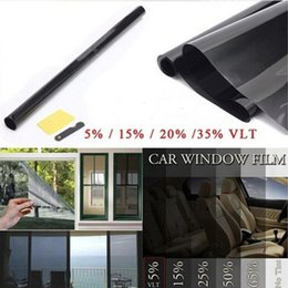black glasses sticker Australia - Professional Black Car Window Tint Film Roll Scratch Resistant Roll 50 %Vlt For Auto Home Car Glass Sticker 50 *300cm