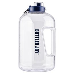 sports drinking NZ - Sport Fitness Water Bottles 1 Gallon Outdoor Portable Kettle Water Jug Drink Bottle Student Milk Coffee Tea Cups With Lid Rope
