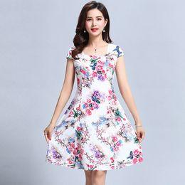 $enCountryForm.capitalKeyWord Australia - designer Women's clothes Floral Print Vintage Dress Plus Size Short Sleeve Square Neck Casual Style Dresses Vestidos De Festa
