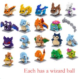 Wholesale Diamond Building Blocks Cartoon Anime Educational Toy Building Blocks Plastic Pet Pikachu Class V093