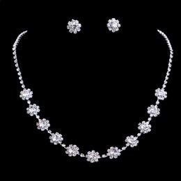 $enCountryForm.capitalKeyWord Australia - 2019 Fashion Crystal Bridal Wedding Jewelry Sets African Beads Silver Color Rhinestone Women Necklace Sets Engagement Jewelry