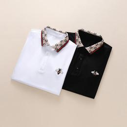 Venta al por mayor de 2019 diseñador de verano de los hombres de las mujeres camisas de polo de la marca de los hombres de diseño de la camiseta de impresión de alta calidad top de mezcla de algodón 11 color m-3xl