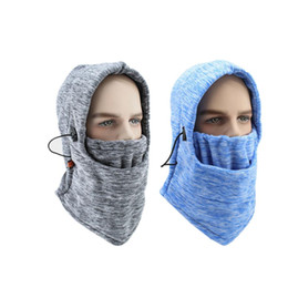 Hat mask men online shopping - Winter Cycling Cap Fleece Thermal Keep Warm Windproof Face Mask Bicycle Skiing Hat Cold Headwear Bike Face Mask Scarf