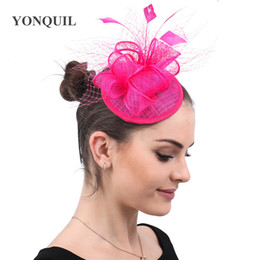 $enCountryForm.capitalKeyWord Australia - Hair Fascinators for weddings hats women elegant ladies veils hats headwear female Linen clips hair accessories for event party free ship