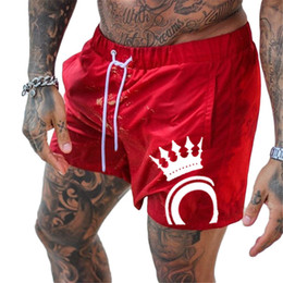Cool Men Black Pants Australia - Fitness Bodybuilding Mens Summer Casual Cool Short Pants Red Black Male Jogger Workout Beach Shorts for Men