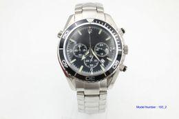 $enCountryForm.capitalKeyWord Australia - Men high quality Watch Chronograph Quartz Co-Axial 45mm 2210.50.00 Black Dial Stainless steel bracelet Sports Wrist Watches