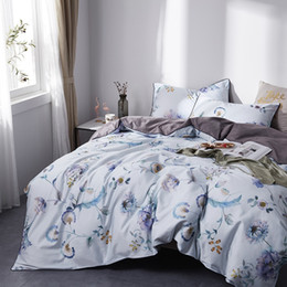 Discount princess bedding - TUTUBIRD-European Satin bedding set 100% Egyptian cotton pastoral princess bed sheet linen duvet cover queen king size 4