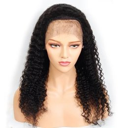 $enCountryForm.capitalKeyWord UK - Human Hair Lace Front Wig Kinky Curly Pre-plucked Hairline Curly Full Lace Wig Brazilian Virgin Hair 130% Density Bleached Knots