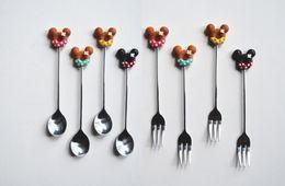 $enCountryForm.capitalKeyWord Australia - Unique Doughnut Spoon fork Dining Bar Stainless Steel Coffee Dessert Spoon Stirr rods Tea Ice Cream Candy Kitchen Flatware fork