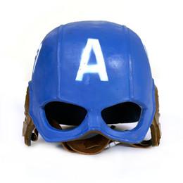 Adult Captain America Mask UK - Cosplay 20*22cm The Avengers Civil War Captain America simulation helmet toy child adult costume party helmet mask replica model