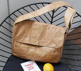 Washed Messenger Bag Australia - 2018 Korean version of the retro postman shoulder bag fashion old washed messenger bag Simple kraft paper wrinkled handbag