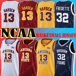 ArizonA stAte jersey online shopping - NCAA Arizona State James Harden Jersey Jimmer Fredette Brigham College Basketball Jerseys Dwyane Wade Leonard Bias