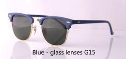 $enCountryForm.capitalKeyWord Australia - Wholesale-Brand Mens Womens Sunglasses plank frame Metal hinge Glass Lens Cat Eye sun glasses uv400 Goggle With Retail cases and label