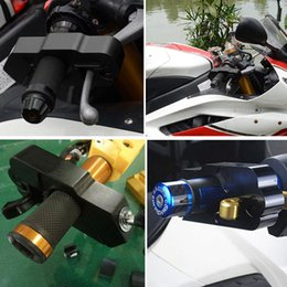 lock handlebar grips UK - Hot Motorcycle Handlebar Lock Brake Lever Grip Security Safety Anit -Theft Protection Jld