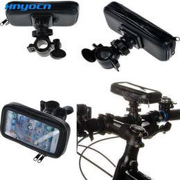 $enCountryForm.capitalKeyWord Australia - Universal Moto Bike Bicycle Waterproof Zipper Case Mount Holder support suporte para celular mobile Phone GPS for iphone 5 5s 5C