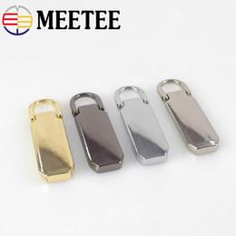 Metal Zips Australia - Meetee Detachable Metal Zipper Puller 5# Sliders Zipper Pull Tab Zip Repair Kits DIY Sewing Craft bag hardware accessories