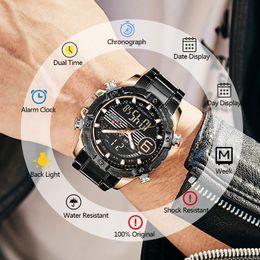 $enCountryForm.capitalKeyWord Australia - NAVIFORCE Men Watch Top Brand Fashion Sport Watches Men's Full Steel Quartz LED Digital Analog Clock Male Waterproof Wrist Watch