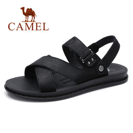 $enCountryForm.capitalKeyWord Australia - CAMEL Summer Men Sandals Trend New Simple Wild Genuine Leather Cow Leather Rome Flexible Resistant Folding Man sandal