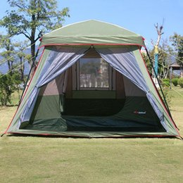 clear outdoor tents NZ - 4 8 Person Tourism Camping Tent Waterproof Double Layer One Bedroom And One Living Room Family Party Outdoor Tent Gazebo