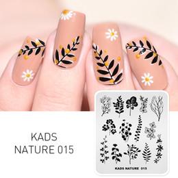 KADS Stamping Plate Nature 015 Foglie Piante Design Image Template Nail Stencil Templates Nail Mold Stencil per chiodi