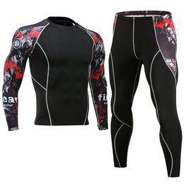 $enCountryForm.capitalKeyWord Australia - mens designer tracksuits Compression Shirt + Pants Skin-Tight Long Sleeves Fitness Rashguard MMA Bodybuilding Gyms Fitness Suits