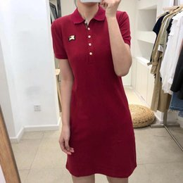 hot new polo shirts NZ - New Fashion Womens Brand Polo Dresses 2020 New Arrival Summer Women Shirt Dresses Hot Sale Polos Casual Tops Streetwear 5 Colors YF203142