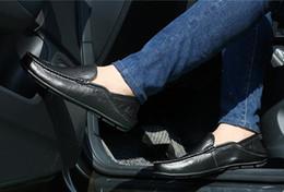Polo Black Brown Australia - man polo punk shoes Men Leather Shoes Business Flat Black Brown Breathable Summer Autumn Dress Shoes Plus Size 37-48
