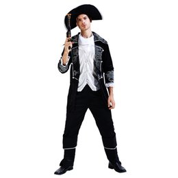 movie guns Australia - Adults Men Pirate Costume Pirates Cosplay Costumes 002 Christmas Halloween Masquerade Party Dress Decoration (No Included the Gun)