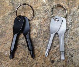 Portable Screwdrivers Keychain set Phillips Slotted Screwdriver Key Ring keyring Multi Mini Pocket Repair Tool Gadget Camp Hike Outdoor from manual tablet suppliers