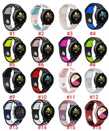 samsung smart watches Australia - Fashion Silicone Strap for Samsung Galaxy Watch 42mm 46mm Dual-colors Sport watchband For Samsung Smart Watches Accessories