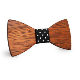 Wholesale business apparel for sale - Group buy 2019 new hot selling Fashion Apparel Accessories Ties Men Wooden Bow ties Butterfly Cravat Wood tie