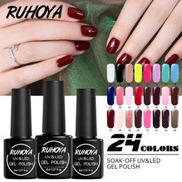 $enCountryForm.capitalKeyWord Australia - Ruhoya Nail Art Uv Color Gel Nail Polish Set Soak Off Gel Polish Top Base Manicure Lacquer Top Selling Product In 2019