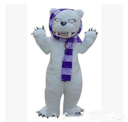 make prop NZ - 2018 Factory direct sale make-up animal cartoon costumes performance props costumes stage white bear zombie bear mascot adult size