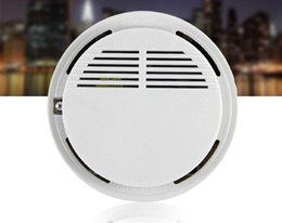 Smoke Detector Alarms System Sensor Fire Alarm Detached Wireless Detectors Home Security High Sensitivity Stable LED W 85DB 9V BatterySN2148 on Sale