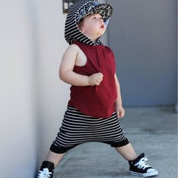 $enCountryForm.capitalKeyWord NZ - European and American style summer baby and children's clothing set hip hop style cotton T-shirt + shorts for boy