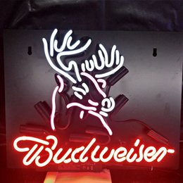 Budweise On Tap Classic Neon Sign Glass Tube Handmade Neon Light Sign Decorate Hotel Beer Club Iconic Neon Light Lamp Advertise Neon Bulbs & Tubes