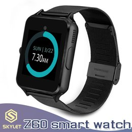 Kids boxing online shopping - Bluetooth Smart Watch Z60 Smartwatches Stainless Smart Bracelet with SIM Card Camera for Android IOS Cellphones with Retail Box