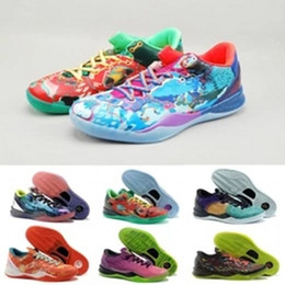 806407b70dde7f Multicolor What the kobe 8 VIII System Top Basketball Shoes for Cheap  Classic KB 8s Mamba Assassin Easter Master Sports Sneakers Size 40-46