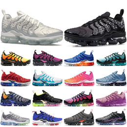 cushion patterns NZ - TN plus Cushions Running Shoes Geometric Black White SILVER PATTERNS Grey Red SUMMER SUNSET Olympic TNS Mens Designer Shoes Women Sneakers