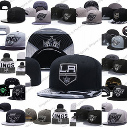 d5dca6d7 Men's Los Angeles Kings Ice Hockey Knit Beanie Embroidery Adjustable Hat  Embroidered Snapback Caps Black Gray White Stitched Knit Hat