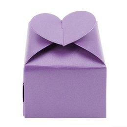 Wholesale Boxes Packaging Australia - 50pcs lot Multi-color Candy Packaging Box Love Heart Wedding Gift Boxes Wedding Party favors Box Supplies